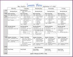 kindergarten lesson plan template designproposalexample com