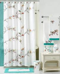 Shower Curtains With Birds Lenox Simply Fine Bath Chirp Collection Bathroom Accessories
