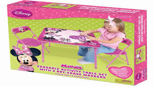 minnie mouse table set minnie first fashionista erasable activity table set with 3 dry