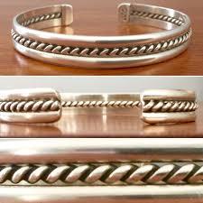 man cuff bracelet images Vintage taxco sterling silver cuff bracelet beautiful on a man jpg
