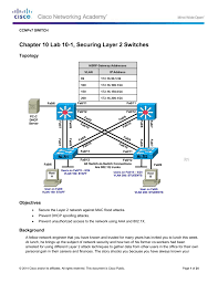 lab 10 1 securing layer 2 switches