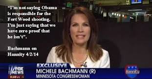 Michele Bachmann Meme - facebook post says michele bachmann said we have zero proof