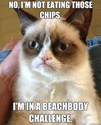 Beach Body Meme - no i m not eating those chips i m in a beachbody challenge