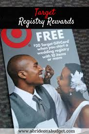 free gifts for wedding registry registry rewards from target a on a budget