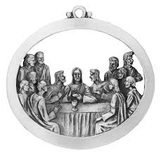 last supper pewter christmas ornament handcrafted in usa