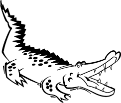printable coloring pages printable alligator coloring clip
