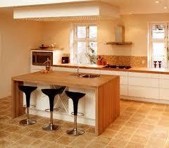 ilot de cuisine en bois ilot central cuisine bois brut cuisine idées de décoration de