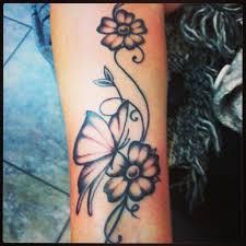 Flower Butterfly Tattoos 01 Flower Butterfly Sacramento