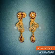 trendy gold earrings 50 best trendy earrings jhumkas images on gold
