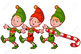 christmas elves christmas elves with candy vector clip illustration on a