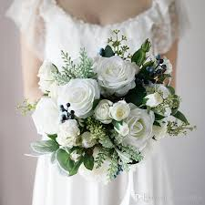 artificial wedding bouquets new white country artificial bridal bouquets 2018 berries