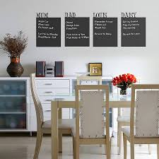 personalised chalkboard wall sticker by spin collective