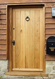 Solid Oak Exterior Doors External Framed Ledge And Brace Oak Front Doors
