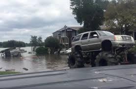 video of monster trucks monster trucks rescue stranded army truck in houston floods video