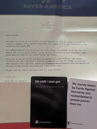 cards against humanity near me my friend got this in the mail today cards against humanity