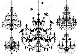 antique chandelier antique chandelier set royalty free cliparts vectors and stock