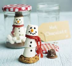 Christmas For Kids Marshmallow Snowman And Chocolate