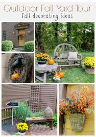 Outdoor Fall Decor Simple Outdoor Fall Decorating At My Friends Home Four