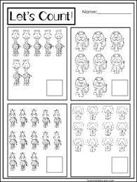 15 zoo themed math worksheets preschool pre k and kindergarten