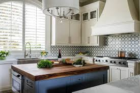 blue kitchen cabinets with wood countertops 16 modern kitchens with butcher block countertops