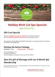 gift card specials christmas gift card specials perennialglow spa
