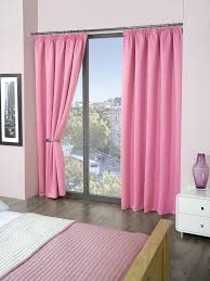 plain luxury thermal supersoft blackout curtains pink 90 x 72 229