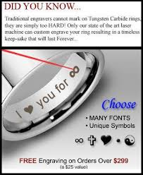 wedding band engraving can tungsten be engraved