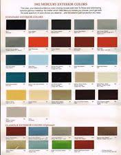 paint color chart ebay