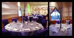 Purple And Silver Wedding A Purple And Pewter Silver Wedding Reception Decoration Toronto
