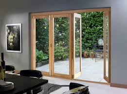 Wooden Bifold Patio Doors Patio Folding Patio Doors Of Wood With Rectangular Display On The