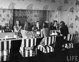 Vintage Powder Room Alfred Eisenstaedt Silver Velvet Sky