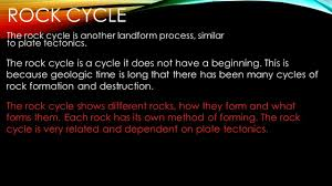 rock cycle and glaciation ppt download