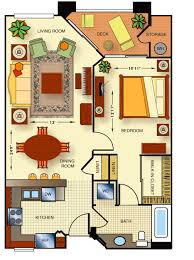 Meridian Floor Plans - One bedroom townhome