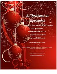 christmas ornament holiday party template for microsoft word