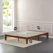 amazon com zinus 12 inch wood platform bed no boxspring needed