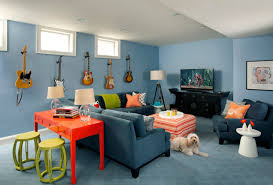 Games For Basement Rec Room by Contemporary Family Room