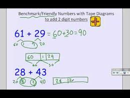 2nd grade friendly numbers w tape diagram addition and