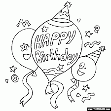 coloring page happy birthday aecost net aecost net