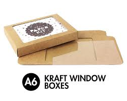 greeting cards wholesale 25 a6 6 bar kraft greeting card boxes clear window box 4