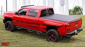 Folding Bed Cover Tri Fold Tonneau Vinyl Soft Bed Cover By Rough Country Youtube