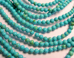 round turquoise necklace images 4mm turquoise beads etsy jpg