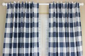 Blue Plaid Curtains Buffalo Plaid Curtain Panel Set Plaid Curtains Navy Blue