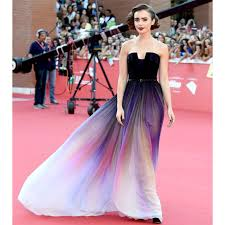 dip dye wedding dress pre order elie saab purple dip dye bustier