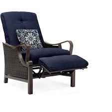 luxury recliner in navy venturarec nvy