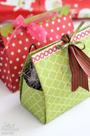 Homemade Christmas Presents by Diy Christmas Gift Boxes Lady Pattern Paper Scrapbooking Paper