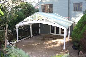 carports steel carport designs flat roof carport off garage