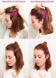 short curly hairstyles above the ear 16 genius half bun hacks you need to know about half bun temple