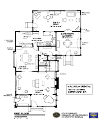 Bungalow Floor Plans Historic Vacation Gallery Home Drawn San Diego