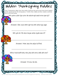 4 learning thanksgiving word puzzles freebie
