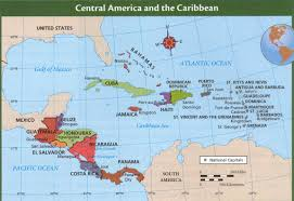 Physical Map Of Central America by Panama